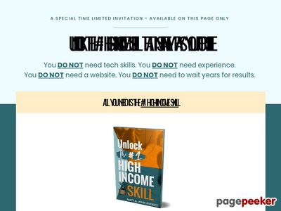 Unlock The #1 Skill - Big Monthly Commissions To You